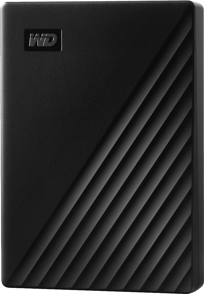 WD 4TB My Passport Portable Cropped Render