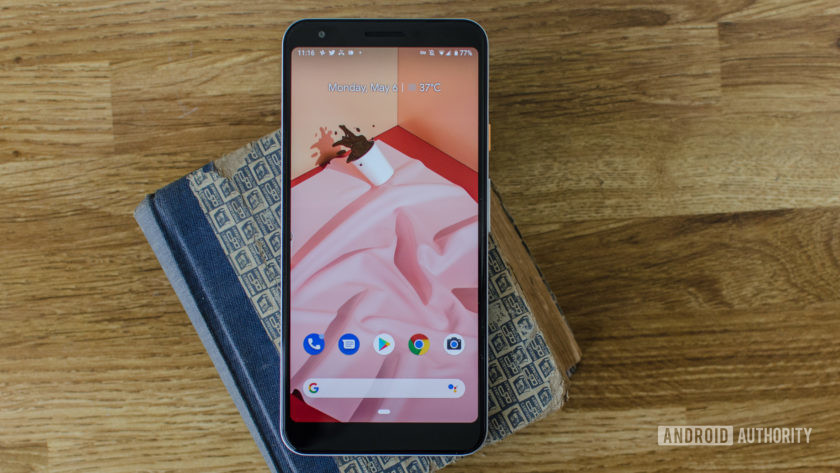 Google Pixel 3a XL showing front bezels and camera