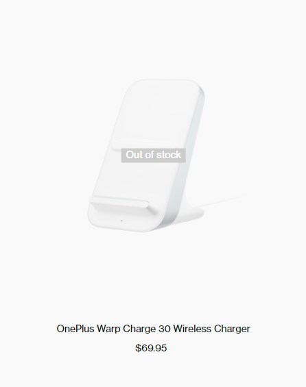 OnePlus Warp Charge 30 Wireless Charger out of stock