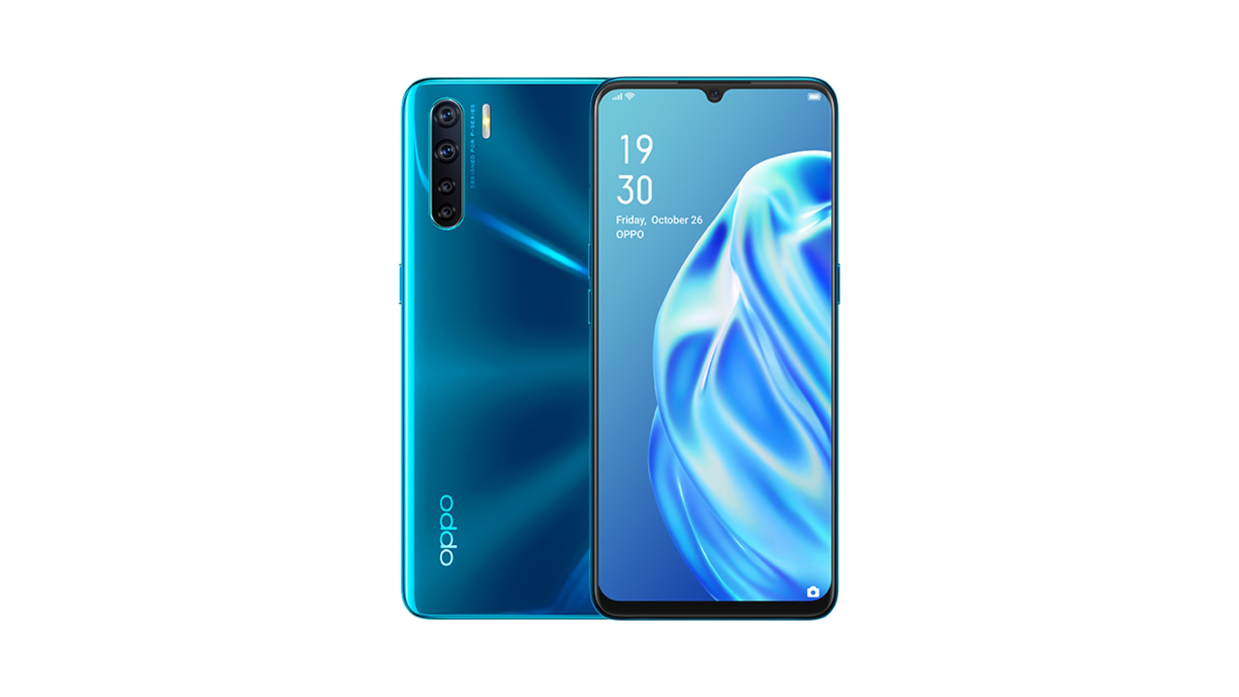 OPPO F15 Blazzing Blue Featured