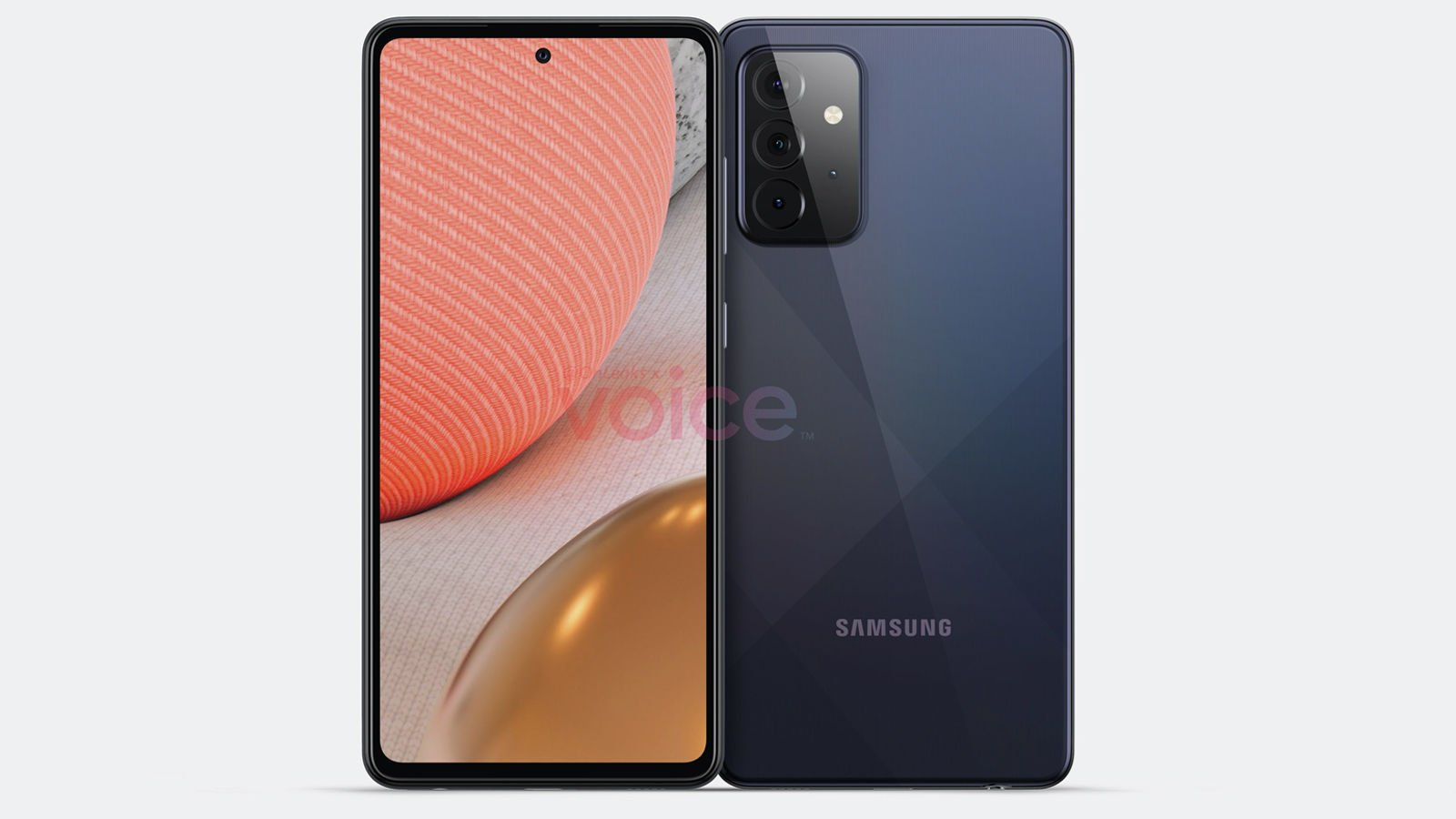 Samsung Galaxy A72 5G leaked images back front | Source: OnLeaks