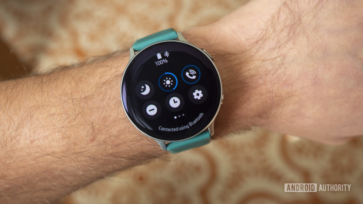 samsung galaxy watch active 2 review quick settings on wrist