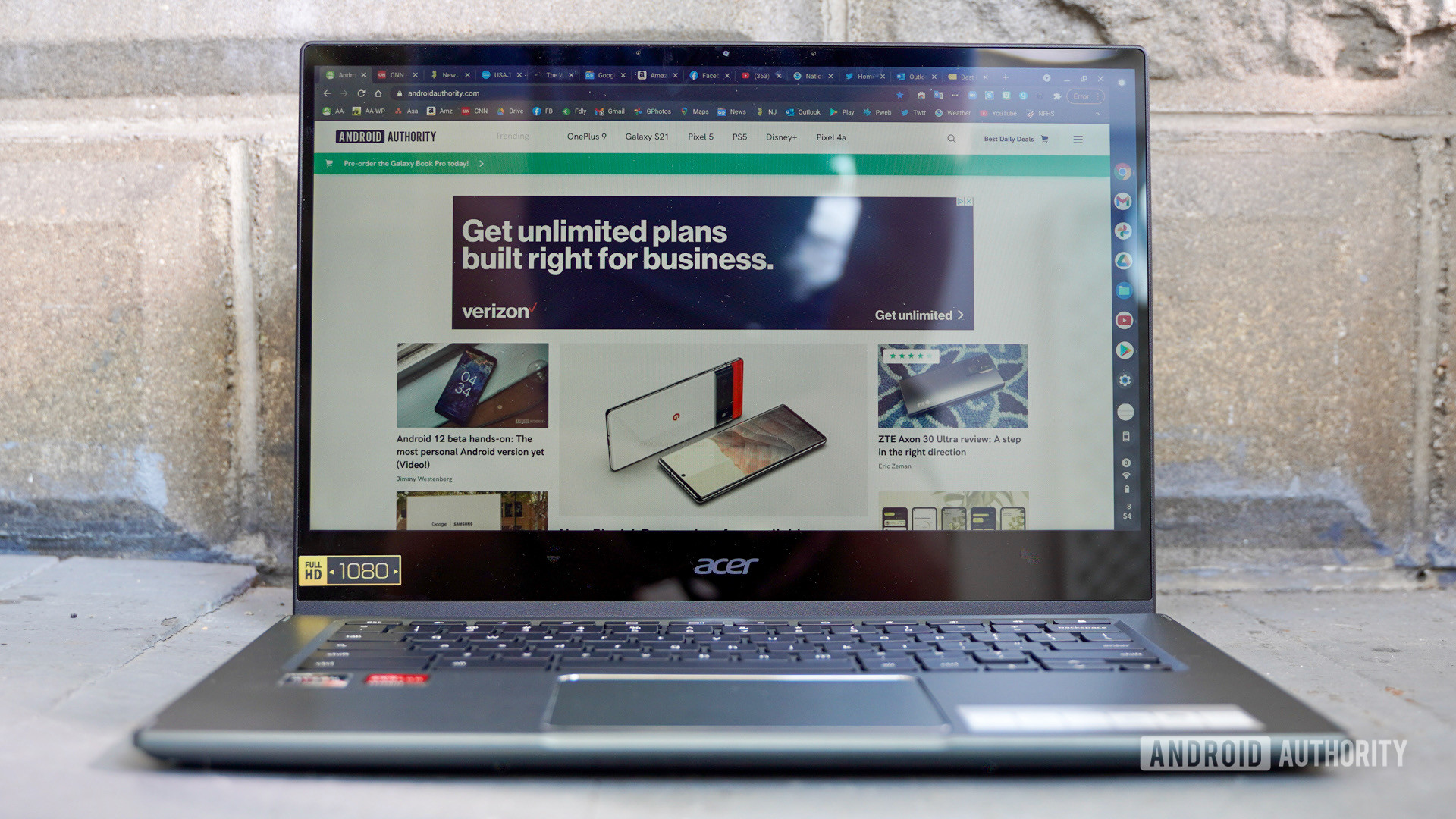 Acer Chromebook Spin 514 front face