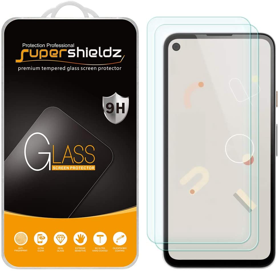 Supershieldz Tempered Glass 2 Pack Pixel 4a Screen Protector