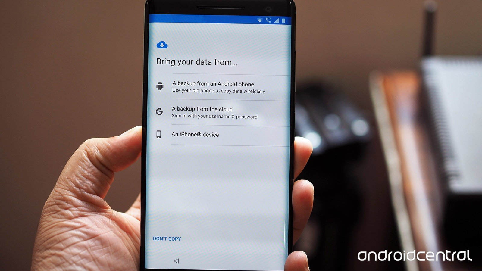 Android restore settings