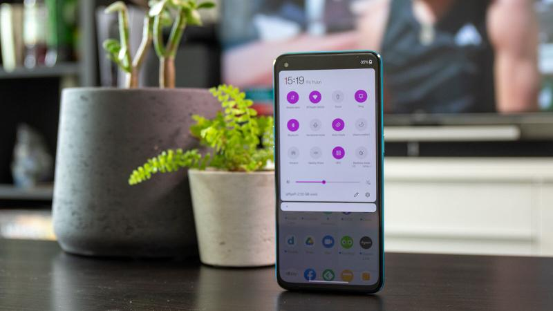 OnePlus Nord CE 5G control centre