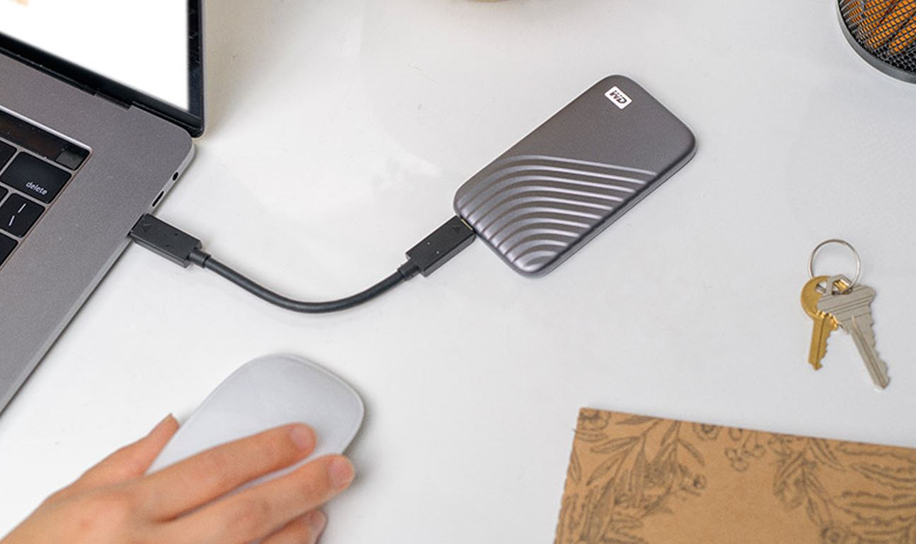 WD 500GB My Passport SSD External Portable Solid State Drive Promo Image