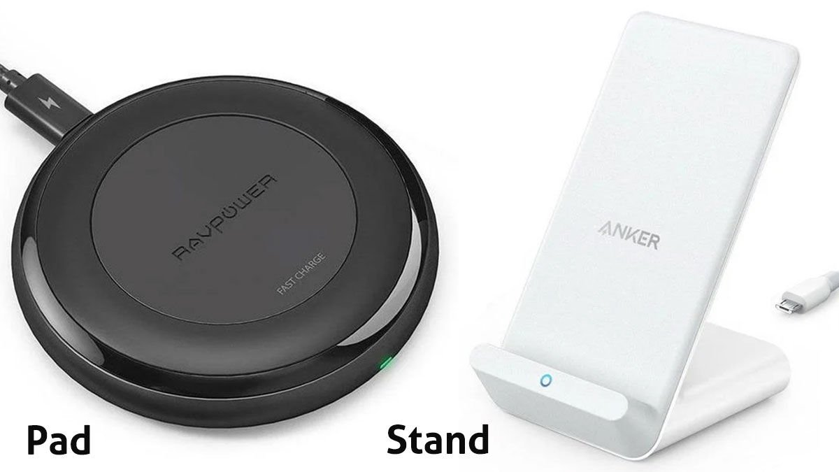 Wireless charger pad or stand