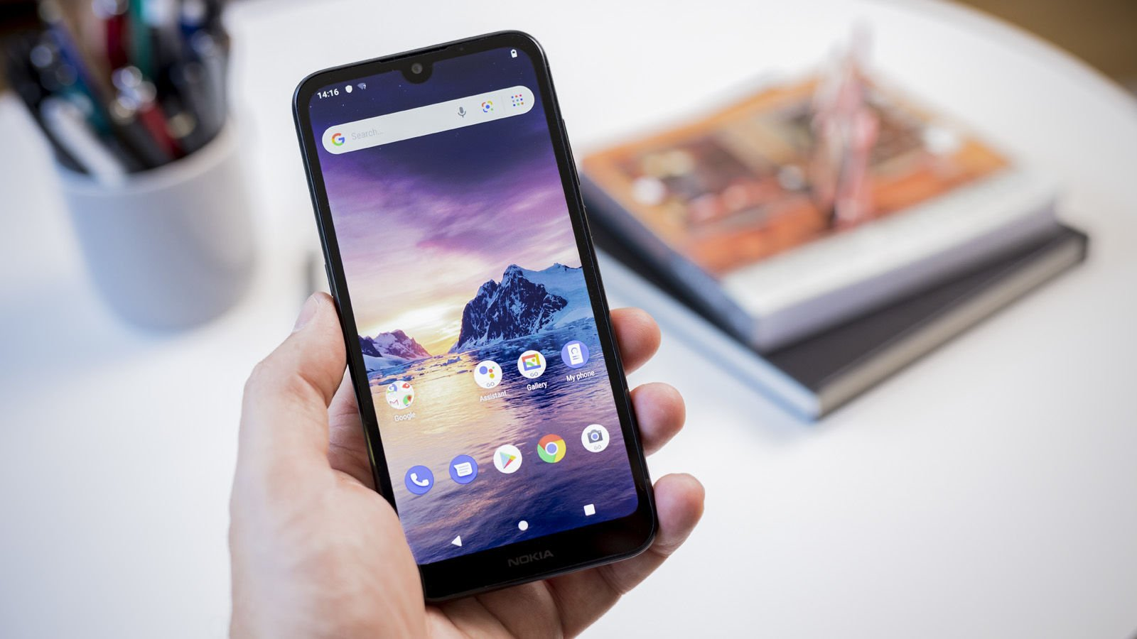 Nokia 1.3 in hand front