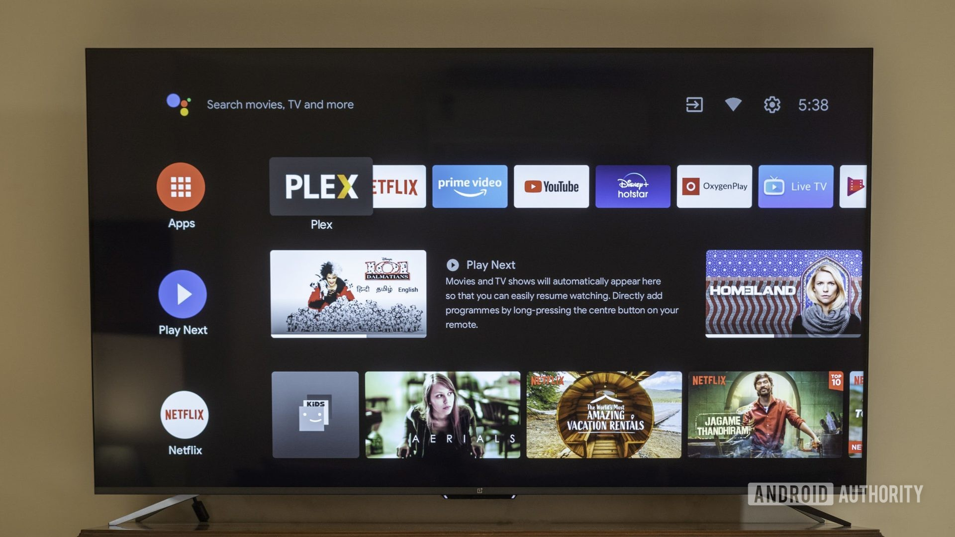 oneplus tv with android tv interface