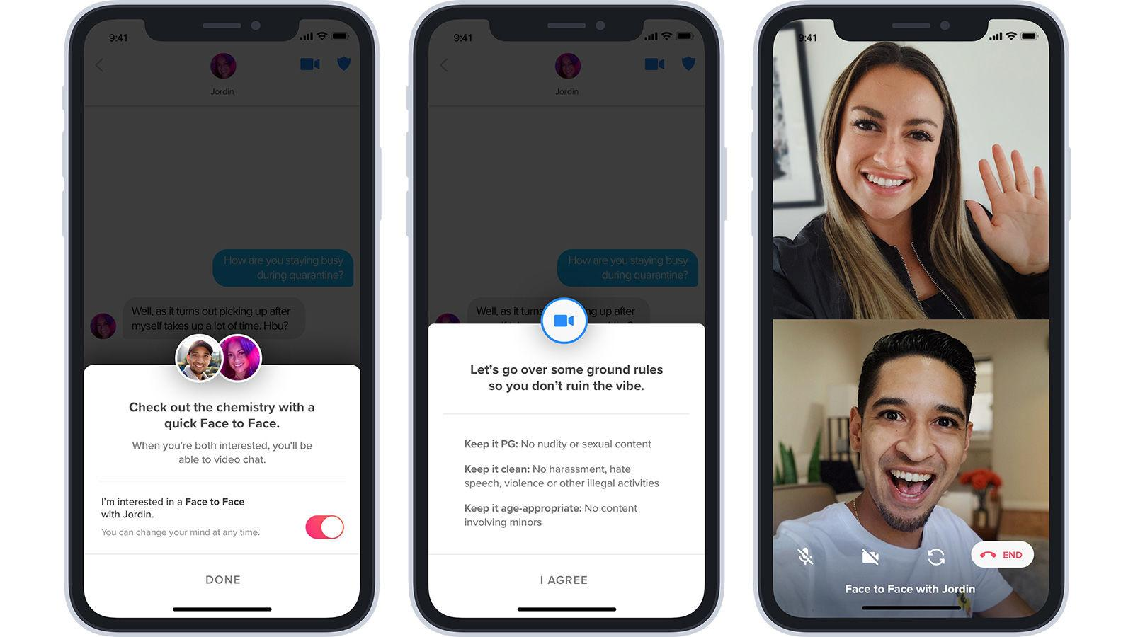 Tinder Face to Face video chat