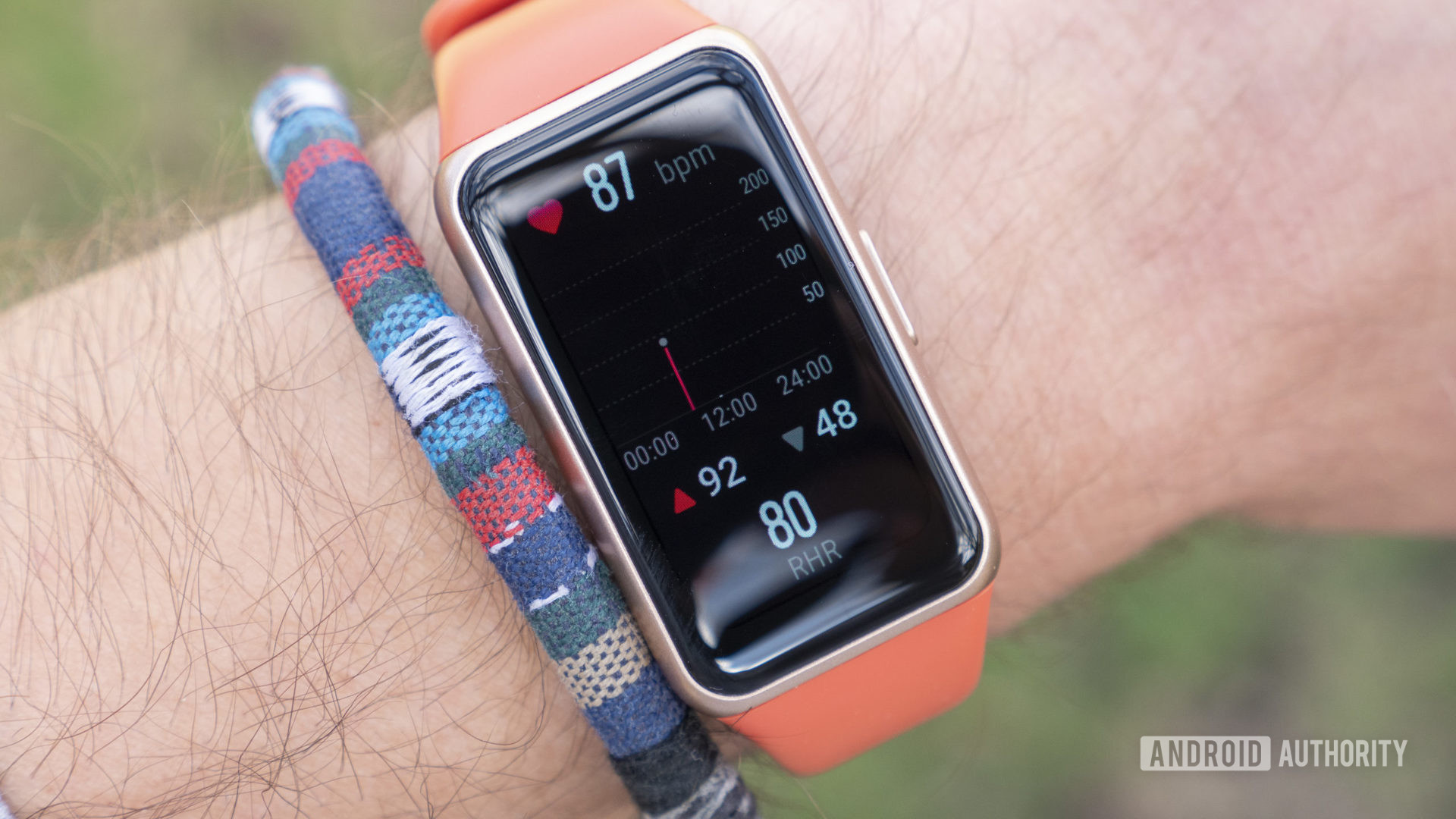 Huawei Band 6 review resting heart rate on wrist