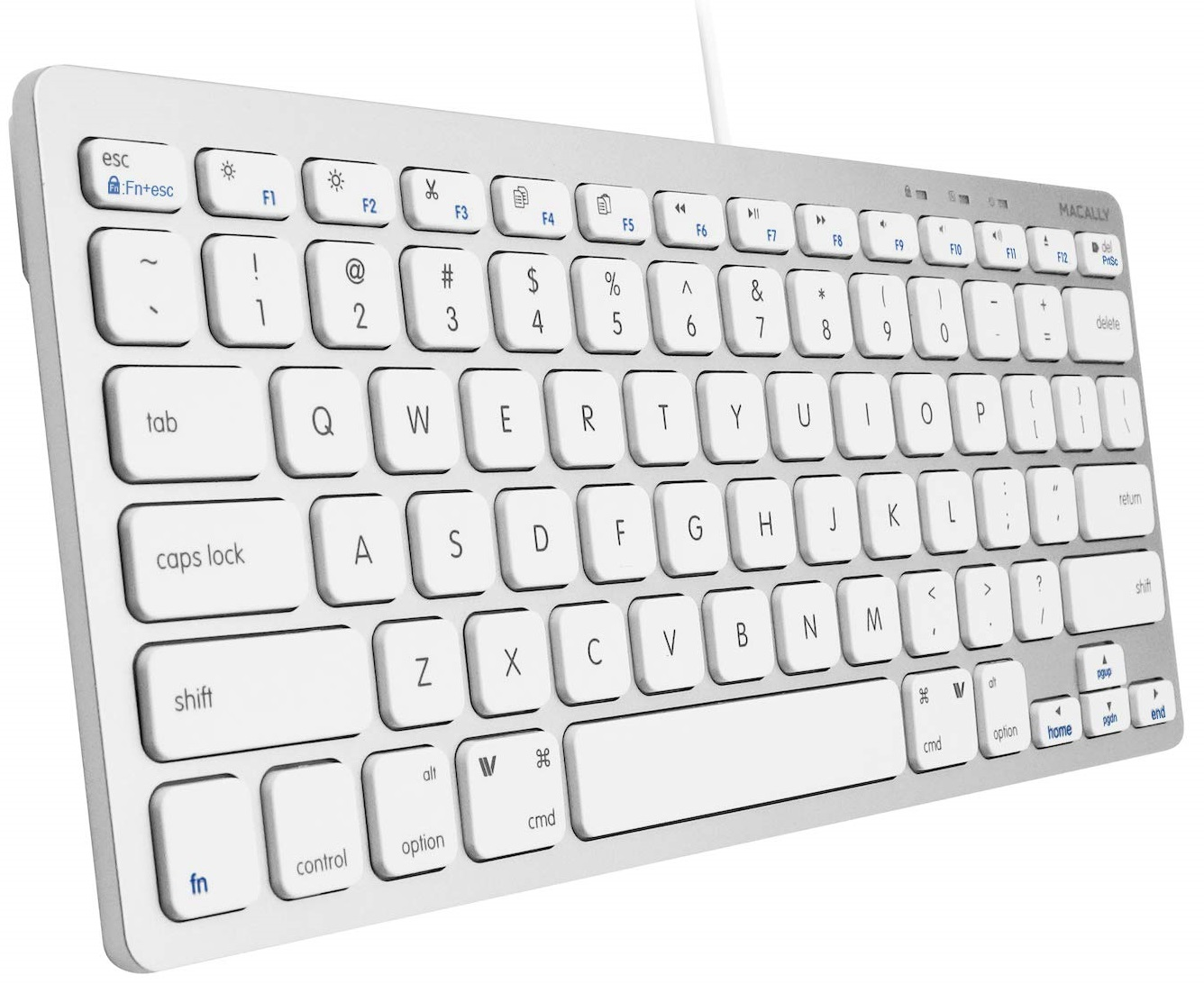 Macally compact wired keyboard